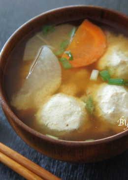 雞肉丸子味噌湯
