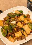 青蔥肉末豆腐