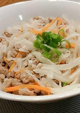 蘿蔔絲炒肉末