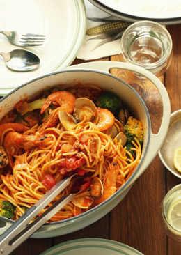 【家樂福廚房】一鍋到底海鮮義大利麵