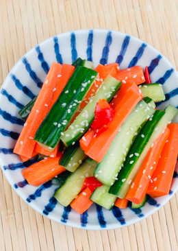 簡易醃酸辣小黃瓜蘿蔔