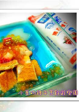 美人魚的珍珠寶盒-草莓就愛鷹牌煉奶