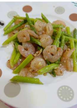 青蘆筍炒蝦仁