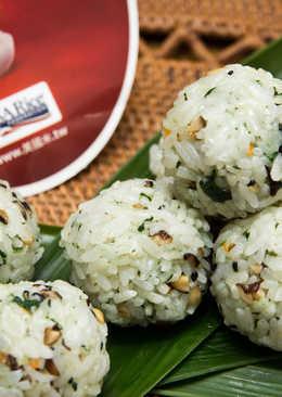 米食料理-芝麻蔬菜飯糰(美國米)