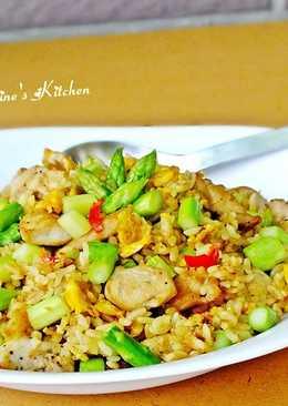 蘆筍雞粒炒飯