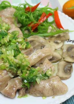 簡單好料理! 菇菇蔥油雞~