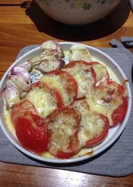 義式焗烤蕃茄和新蒜