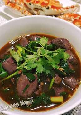 潮州熱爆小食 ~ 韭菜豬紅