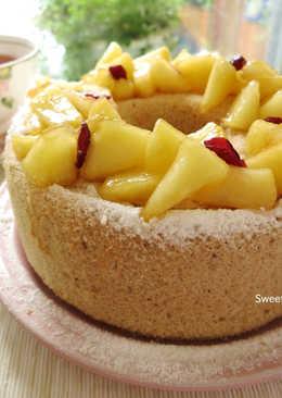 蘋果紅茶戚風蛋糕~母親節清爽風蛋糕