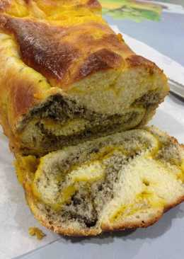 面包机 cosway / 汤种法 ~ 三色面包-金瓜咖椰黑芝麻面包