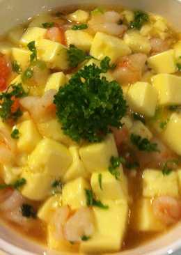 蝦仁蒸蛋豆腐煲