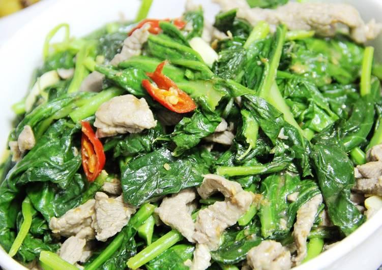 沙茶炒牛肉芥藍菜