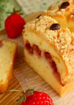 酥粒🍓草莓乳酪磅蛋糕