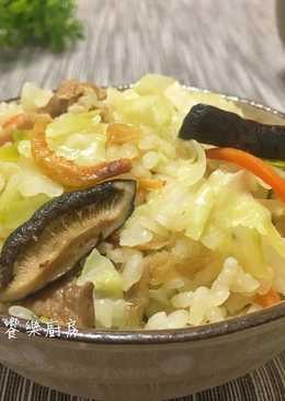 香菇高麗菜飯 【電鍋版】