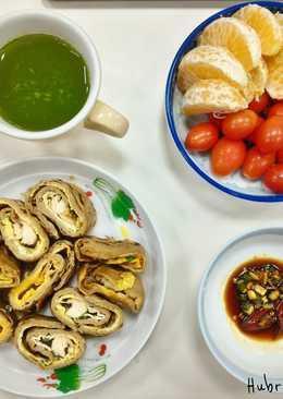 [一人獨享食譜] 順暢滿點的高纖全麥豌豆起司蛋餅 熱量:260大卡