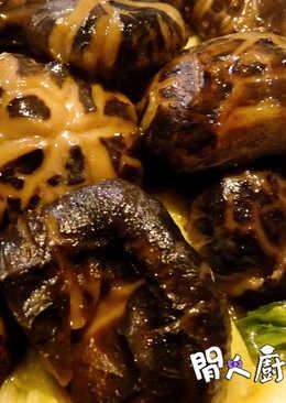 花菇扒生菜