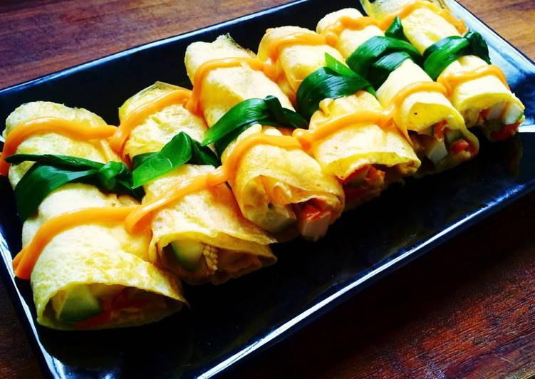【假賢妻良母】 - 蛋皮高纖蔬食沙拉卷