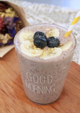 藍莓香蕉優格奶昔