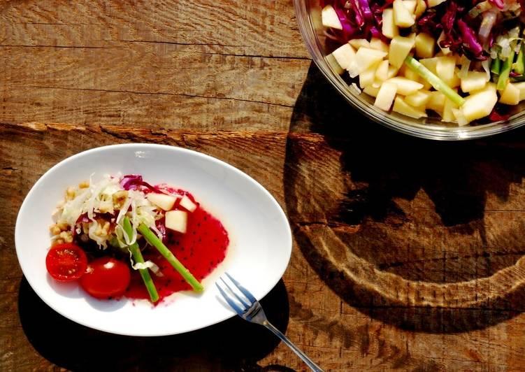 果醬輕食-紅龍果油醋醬沙拉