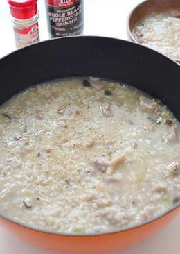香菇芋頭粥 (富有口感的燉飯版)