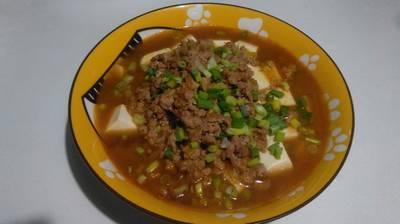 豆腐蒸肉末