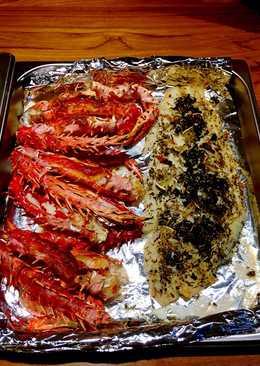 焗烤帝王蟹佐義式羅勒鰈魚