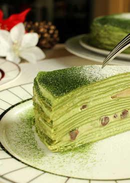 抹茶千層蛋糕|Matcha Mille Crêpe Cake