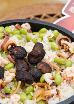 米食料理-海鮮石鍋拌飯(美國米)