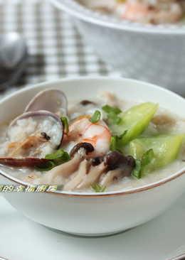 夏日懶人料理絲瓜海鮮燕麥粥(224大卡)