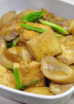 杏鮑菇燒豆腐