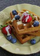 【酥脆】班蘭椰奶格子鬆餅(Waffle)