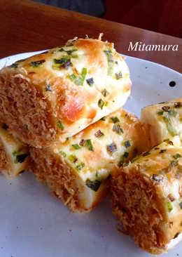 香葱肉鬆麵包卷