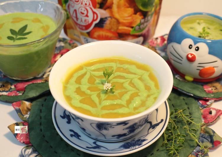 地瓜咖哩翡翠濃湯