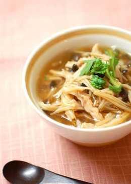 草菇稀飯(風邪を引いた時のあんかけ粥)