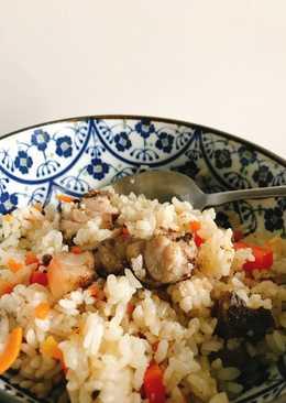電鍋料理之鹹豬肉炊飯