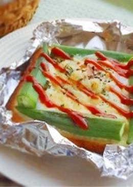 秋葵烤蛋吐司