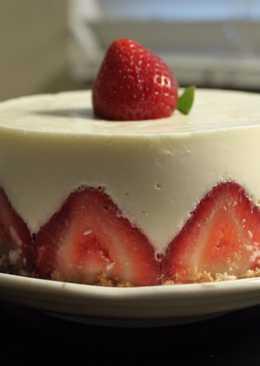 免烤箱草莓起司蛋糕