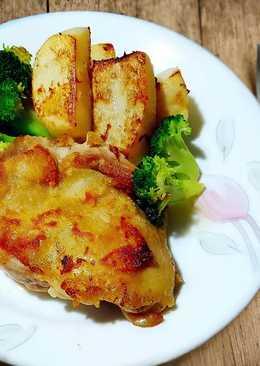 厚切洋芋雞腿排☆簡易快餐☆