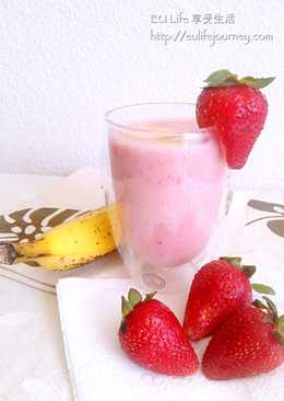 EU Life 草莓香蕉牛奶冰沙