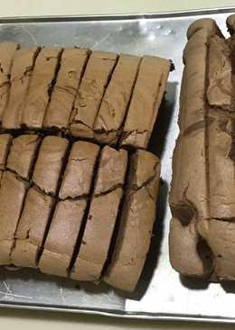 烘烤式 ~ 巧克力味北海道戚风蛋糕~