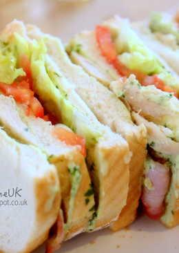 【食譜•輕食好輕盈】羅勒醬雞肉三明治