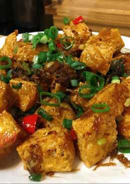 Xo醬伴豆腐(炸豆腐的變化)