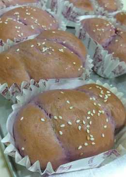 湯種法 ~ 紫番薯香肠面包