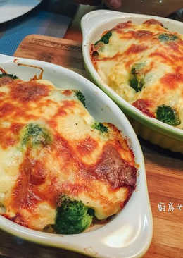 焗烤白醬雙色花椰菜