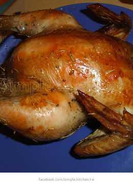 【Simple Kitchen】迷迭香烤雞大餐