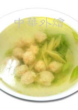 蝦丸蔬片湯【中餐乙級食譜】