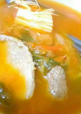 韓國泡菜肉片莧菜湯