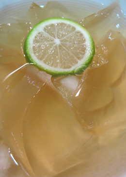 自製檸檬愛玉。不用手搓,果汁機可完成!