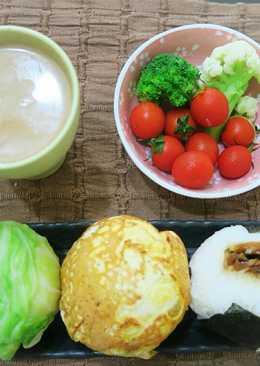 【省時料理】日式高麗菜飯團&蛋皮飯糰