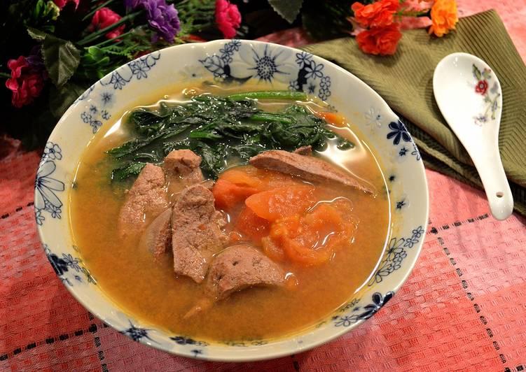 番茄豬肝菠菜湯